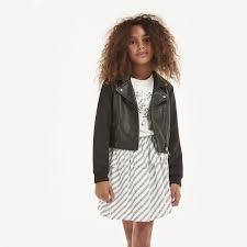 leather jacket karl lagerfeld kids for girl