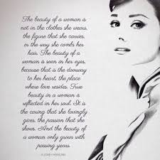 Audrey Hepburn Quotes On Beauty Best of Audrey Hepburn The Beauty Of A Woman Quote