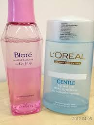 left biore makeup remover for eye lip right l oreal gentle lip and eye makeup remover for waterproof makeup