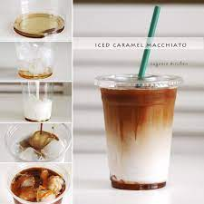 Once you have brewed your coffee, stir through some caramel sauce and cool it down completely using the refrigerator or freezer. Starbucks Iced Caramel Macchiato Copycat Recipe Eugenie Kitchen
