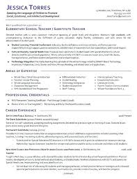 teachers resumes examples elementary school teacher resume sample teacher resume example