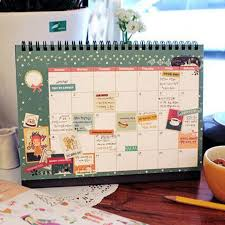 new 2017 diy print desk calendar desktop to do list daily planner book office desk supplies