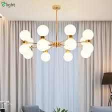 post modern re plate gold g9 led chandelier for foyer frosted glass globes pendant chandelier lighting indoor lighting dining room chandelier bedroom