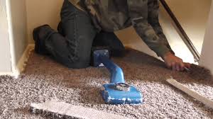 installing carpet in part of a hallway