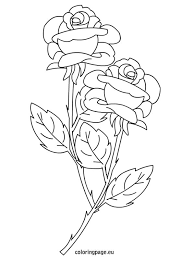 Small Picture Roses coloring page