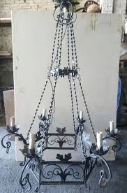 wrought iron chandelier italy 1920