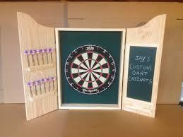 Dart Board Cabinet With Chalkboard Custom Dart Board Cabinet W Chalkboard Scoreboard And Dmi