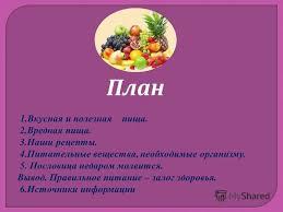 Миасс страница ru Вкусная и полезная пища реферат