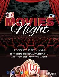 Free Movie Night Flyer Templates Free 3d Movies Night Flyer Template Word Psd Apple