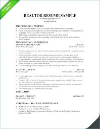 Realtor Resume Skills Examples Real Estate Agent Sample Of Coaxia