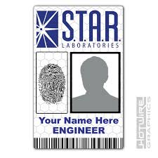The Identity 620444490108 Ebay Printed r Flash S Labs Novelty Series a Tv Id- Card Personalised t