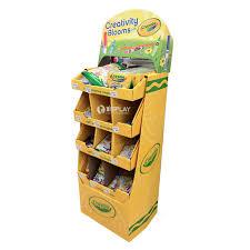 Free Standing Retail Display Units Free standing floor retail store cardboard display rack stationery 80