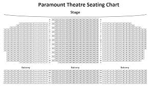Paramount Theater Aurora Seating Chart Detailed Paramount Theatre Middletown Ny Seating Chart 2019