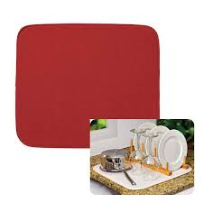 envision dish drying mat 18x16 red
