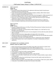 Test Analyst Resume Samples Velvet Jobs