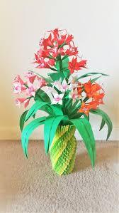 Paper Flower Base 3d Origami Flower Vase Centerpice Wedding Decor Home Etsy