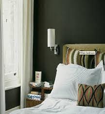 olive green wallpaper idea wall lamp colorseclectic bedroom cleveland
