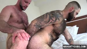 Hairy bear cum shot