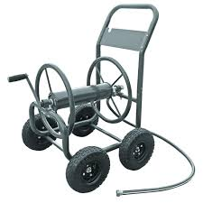 garden hose caddy. Hampton Bay 4-Wheel Hose Cart Garden Caddy D