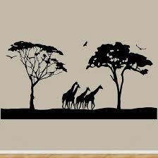 safari wall art decals large animal wall decor giraffes stickers jumbo size m  on jungle animal wall art with safari wall art decals large animal wall decor giraffes stickers