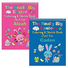 Amazoncom Personalized Easter Coloring Books 24 Page Kids