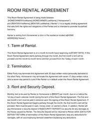 Month To Month Rental Agreement Template Real Estate Contract Templates 15 Free Samples Edit And