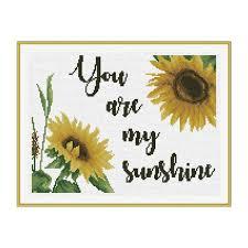 Free Project Free Cross Stitch Pattern You Are My Sunshine