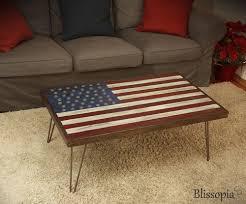 custom made american flag coffee table