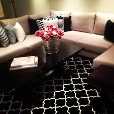 living room area rug 9 with black design