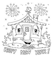 Free Printable New Years Coloring Pages Suzannecowlescom