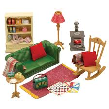 Sylvanian Families Cosy Living Room Furniture - Swivel classy sylvanian families living room set