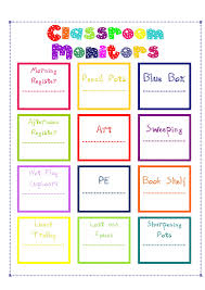 Classroom Monitors Chart The Not So Secret Diary Of A Teacher Aged 27 1 2 Classroom