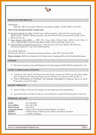 Sample Accountant Resume Custom Fresher Accountant Resume Sample Luxury 48 Cv Formats For Experienced