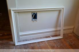 picture frame moulding ready to be attached to wall how to install picture frame moulding