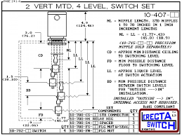ac flange mtd relay hsing level switch set compac diagram 10 407 flange mounted relay housing vertical mounted four level shielded multi level