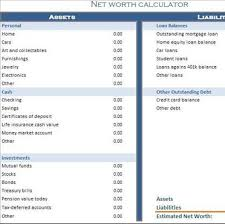Net Worth Calculator Net Worth Calculator