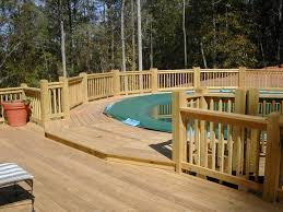 above ground pool with deck attached to house. Above Ground Pools With Decks Connected To House Pool Deck Attached
