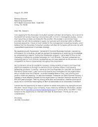 Cover Letter Management Consulting Nardellidesign Com