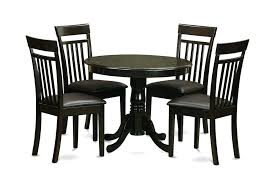 newest round single pedestal kitchen table amp 4 leather chairs in cappuccino small and leat