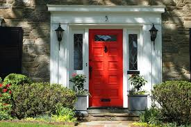 mission style front doorDoor Color Paint Designs Frosted In Designs Red Front Doors With