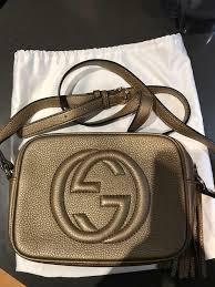 gucci soho small leather disco bag gold