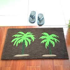 exotic palm tree bath rugs palm tree bath rug set print hallway area carpet rugs palm