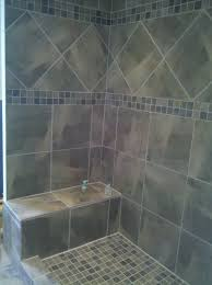 Beautiful Bathroom Tile Sophisticated Gray Diagonal Tiled Shower Patern With Mosaic