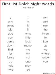 Primer Sight Words Worksheets Dolch Primer Sight Words Worksheets ...