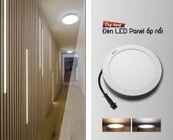 Đèn LED Panel tròn ốp nổi trần nhà   Đèn led, Trần nhà, Bóng đèn