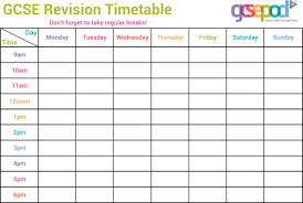 Revision Schedule Template Download Timetable Templates For Free Formtemplate