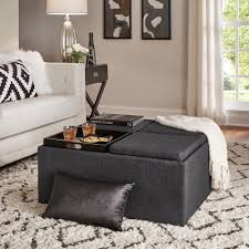 Montrose Dark Grey Storage Cocktail Ottoman by iNSPIRE Q Bold - Free  Shipping Today - Overstock.com - 15605971