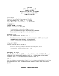 Simple Sample Of Resume Format Free Resume Example And Writing