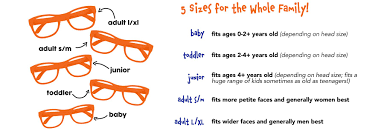 Kids Sunglasses Size Chart Size Charts For Shirts And Shoes