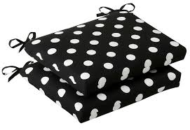 exceptional black and white patio cushions 4 black and white polka dot seat cushions black patio chair cushions
